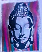 First Amendment Paintings - Silver Buddha by Tony B Conscious
