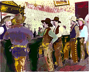 Cowboys Mixed Media - Silver City by Charles Shoup