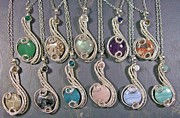 Blossom Jewelry - Silver Coriolis Pendants by Heather Jordan