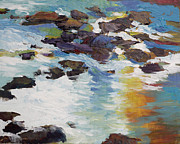 Waterscape Painting Posters - Silver Creek no. 5 Poster by Melody Cleary
