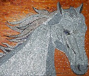 Mosaic Mixed Media - Silver Dream by Andras Szabo