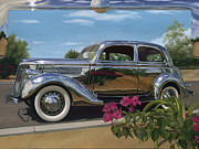 Classic Car Paintings - Silver Dream by Lucretia Torva