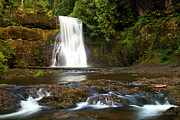 Adam Framed Prints - Silver Falls Waterfall Framed Print by Adam Jewell