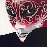 Silver Flair Mask Print by Patty Vicknair