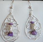 Purple Jewelry Originals - Silver handmade earrings by Diana Dearen