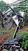 Steel Sculpture Sculptures - Silver Illusion by John Neumann
