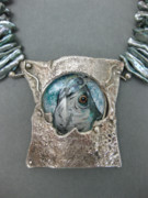Still Life Jewelry Originals - Silver King Necklace by Brenda Berdnik