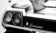 Pebble Photo Originals - Silver Lamborghini by Jim Harris