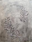 Silver Leaves Print by Marsha Heiken
