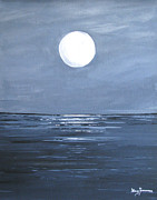 Sea Moon Full Moon Prints - Silver Moon Print by Stacey Zimmerman