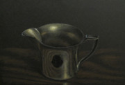 Realist Pastels - Silver on Wood by Amy Tennant