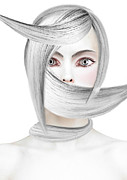 Make-up Mixed Media Prints - Silver One Print by Yosi Cupano