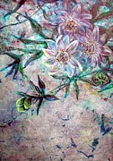 Passionflower Painting Prints - Silver Passions Print by Ashley Kujan