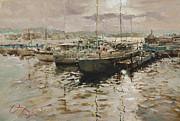 Silver Quay Print by Oleg Trofimoff