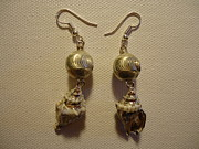 Ocean Jewelry - Silver Seashell Dangle Earrings by Jenna Green
