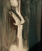 Silver Nude Paintings - Silver Silhouette by Julie Lueders