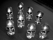 Deaths Head Photos - Silver Sskullies by Edward Przydzial