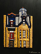 Robert Handler Art - Silver Victorian Mansion-Montreal by Robert Handler