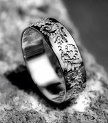 Ring Jewelry - Silver Wedding ring by Marian Capraru