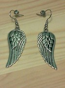 Wings Jewelry - Silver Wing Earrings by Kendell Tubbs