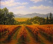 California Vineyard Paintings - Silverado Trail by Patrick ORourke