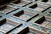 Lockable Framed Prints - Silversmith Mosaic Framed Print by Kantilal Patel