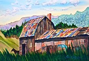 Tin Roof Paintings - Silverton Barn by Frank SantAgata