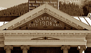 The Old West Framed Prints - Silverton City Hall 1908 Framed Print by David Lee Thompson