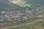 Small Towns Metal Prints - Silverton Colorado Painterly Metal Print by Ernie Echols