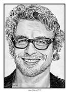 Baker Drawings Prints - Simon Baker in 2005 Print by J McCombie