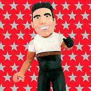 Tv Sculpture Posters - Simon Cowell Poster by Louisa Houchen