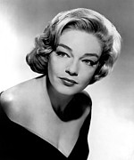 Bare Shoulder Metal Prints - Simone Signoret, 1950s Metal Print by Everett