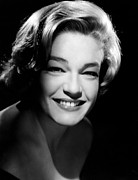 Simone Framed Prints - Simone Signoret, 1958 Framed Print by Everett