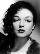 1940s Portraits Framed Prints - Simone Signoret, C. 1940s Framed Print by Everett