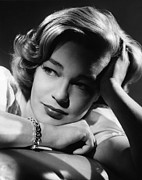 Simone Framed Prints - Simone Signoret, Ca. 1958 Framed Print by Everett