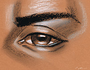 Carey Muhammad Prints - Simple eye drawing male Print by Carey Muhammad