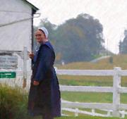 Amish People Posters - Simple Living Poster by Debbi Granruth