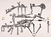 Bullet Drawings Framed Prints - Simple Machines Two Framed Print by Sean Gautreaux