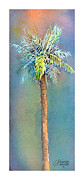 Watercolors Painting Posters - Simple Palm Tree Poster by Arline Wagner