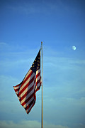 Flag Pole Framed Prints - Simple Patriotism Framed Print by Skip Willits