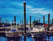 Docked Boat Framed Prints - Simple Pleasures Framed Print by Daniel Carvalho