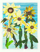 Torn Mixed Media Originals - Simple Pleasures by Mary Beth Volpini