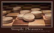 Inspirational Poster Framed Prints - Simple Pleasures Poster Framed Print by Tom Mc Nemar