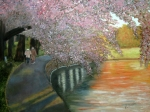 Cherry Blossoms Paintings - Simple Pleasures by Robin Chaffin