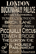 London Painting Prints - Simple Speak London Print by Grace Pullen