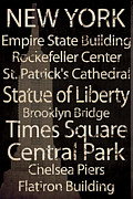 Central Park Mixed Media Posters - Simple Speak New York Poster by Grace Pullen