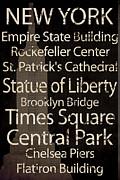 Simple Speak New York Print by Grace Pullen