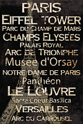 Universities Painting Metal Prints - Simple Speak Paris Metal Print by Grace Pullen