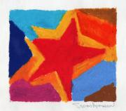 Vivid Pastels Posters - Simple Star Poster by Stephen Anderson