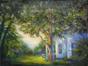 Swing Paintings - Simpler Times by Cathy Miller